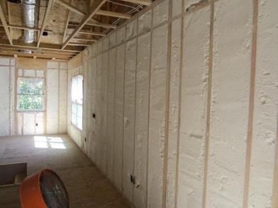 finished room with all insulated walls